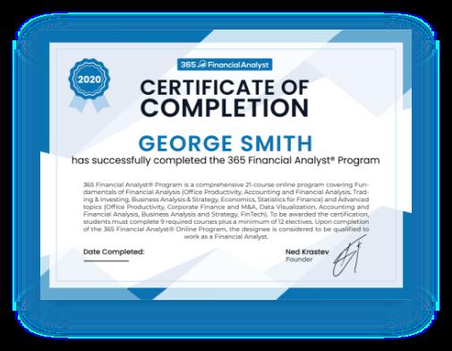 365 Financial Analyst Certificate