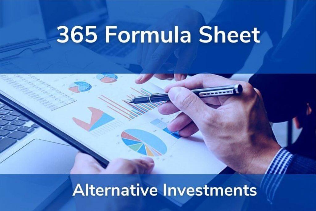 Alternative Investments • Formulas CFA® Level 1