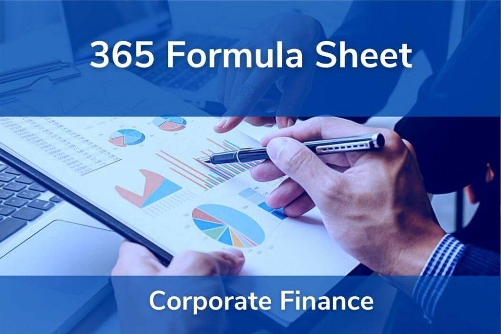 Corporate Finance • Formulas CFA® Level 1