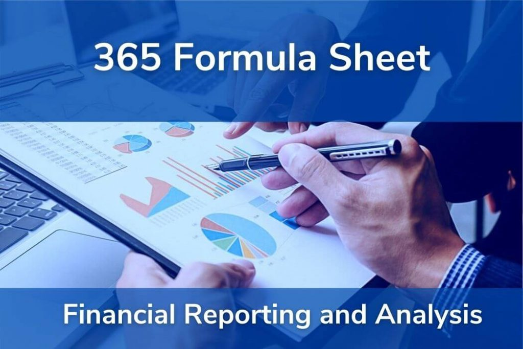 Financial Reporting and Analysis • Formulas CFA® Level 1