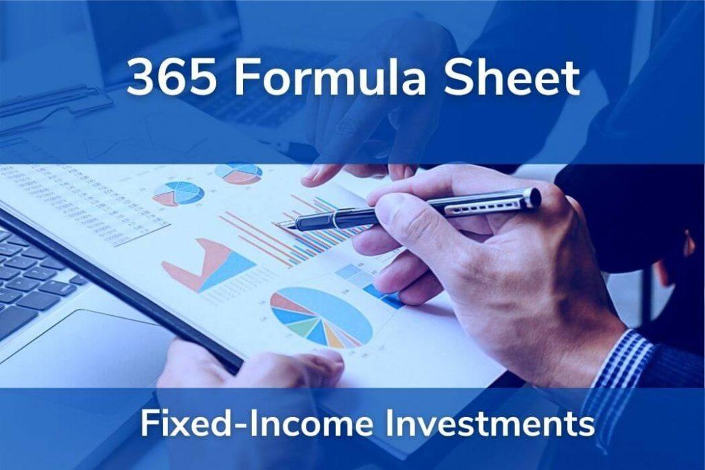 Fixed-Income Investments • Formulas CFA® Level 1