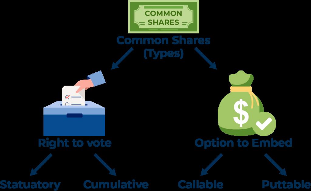 Common shares (Types) comparison